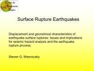 Surface Rupture Earthquakes - PEER