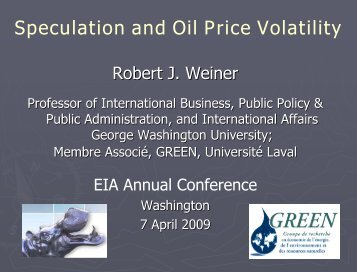 Speculation and Oil Price Volatility