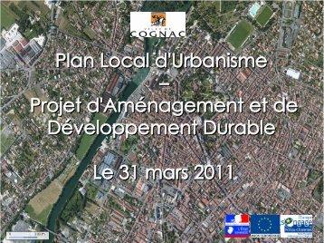 Présentation démarche PLU - Agenda 21 - Ville de Cognac