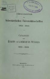 Jahresverzeichnis der Schweizerischen ... - Scholars Portal