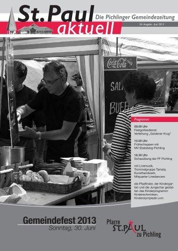 Gemeindefest 2013 - St. Paul zu Pichling