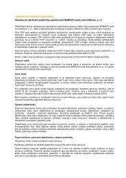 Všeobecné obchodní podmínky - SEMACO tools and software