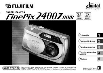 Mode d'emploi FinePix 2400.pdf - Fujifilm France