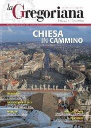 La Gregoriana Anno XVIII - n.44 - Maggio 2013 - Pontifical ...