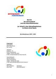 Heimaufsichts-Bericht 2003 bis 2004 Nicht barrierefrei, Bericht