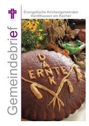 Gemeindebrief Herbst 2012 - Evangelische Kirchengemeinde ...