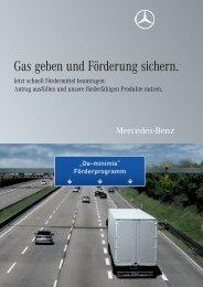 Gas geben und Förderung sichern. - Mercedes-Benz Niederlassung ...