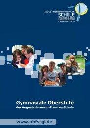 Gymnasiale Oberstufe - August-Hermann-Francke-Schule