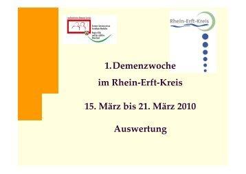 Auswertung Veranstaltungen - Rhein-Erft-Kreis