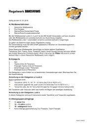 Regelwerk DANCE4FANS - D4F-FINALE.de