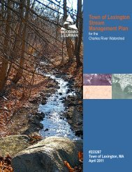 Charles River Watershed Stream Management Plan - Town of ...