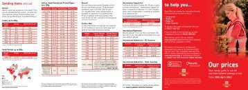 Royal Mail Prices 2012-2013