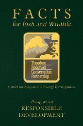 FACTS for Fish and Wildlife - Theodore Roosevelt Conservation ...