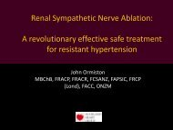 Ardian sympathetic renal nerve ablation - Auckland Heart Group