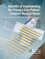 Benefits of Implementing the Primary Care Patient - Ohio Health ...