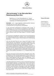 Sternschnuppen - Mercedes-Benz Niederlassung Rhein-Ruhr