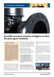 Grundfos incorpora sensores analógicos en bom- bas para aguas ...