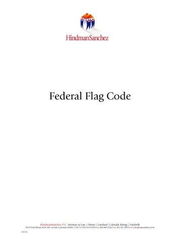 Download Federal Flag Code - HindmanSanchez