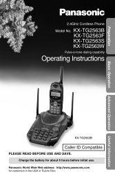 Operating Instructions - Operating Manuals for Panasonic Products ...