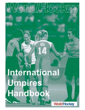 Umpire's Handbook - International Hockey Federation