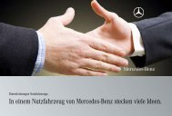 In einem Nutzfahrzeug von Mercedes-Benz stecken viele Ideen.