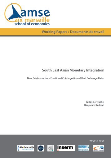 Working Papers / Documents de travail South East Asian ... - AMSE