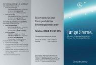 Junge Sterne. - Mercedes-Benz Niederlassung Rhein-Ruhr