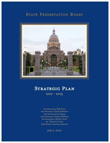 Strategic Plan - The State Preservation Board