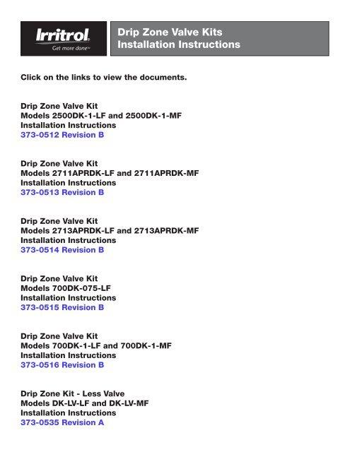Irritrol Richdel Drip Zone Kit Owner's Manual - Irrigation Direct