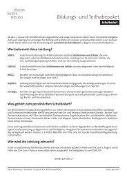 Bildungspaket: Schulbedarf Nicht barrierefrei, Merkblatt, PDF , 31.6 KB