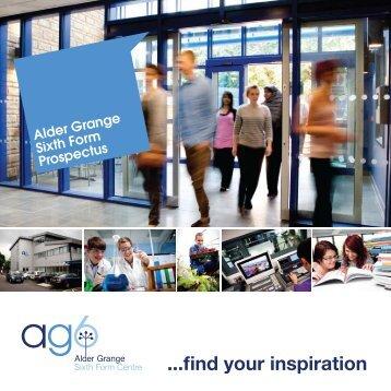 ag6 prospectus - Alder Grange Community & Technology School