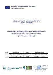 REGIONAL REVIEW OF NATIONAL WATER PLANS ... - SWIM-SM
