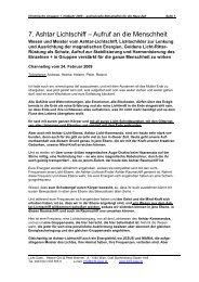7. Ashtar Lichtschiff – Aufruf an die Menschheit - Licht-Oase