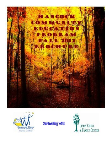 Hancock Community Education Program fall 2012 brochure