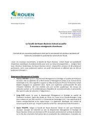 La faculté de Rouen Business School accueille 9 nouveaux ...