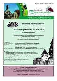 26. Frühlingsfest am 20. Mai 2012 - Bermatingen