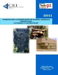 fomento de la exportación de madera aserrada ... - MASRENACE