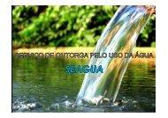 Serviço de Outorga pelo uso da água - CM&O Eventos e Turismo