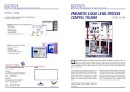 pneumatic liquid level process control trainer - Solution Engineering
