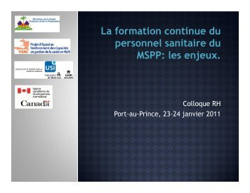 Formation continue - Accueil