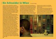 Ein Schneider in Wien Von Saskia Rudigier - Twoday