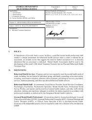 12.11 Mental Health Assessment - Georgia Department of Juvenile ...