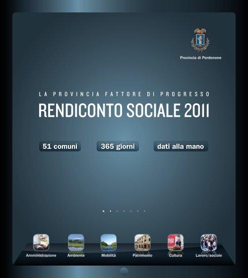 Bilancio Sociale 2011 - Provincia di Pordenone