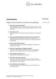 FAQ Chorwettbewerb - Mercedes-Benz Niederlassung Rhein-Ruhr