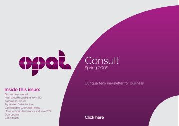 Quarterly Consult Newsletter 0509 v2:Layout 1 - TalkTalk Business
