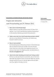 FAQ Klitschko 13.1.2012 - Mercedes-Benz Niederlassung Rhein-Ruhr