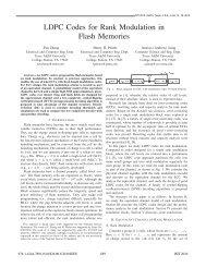 LDPC Codes for Rank Modulation in Flash Memories - TAMU ...