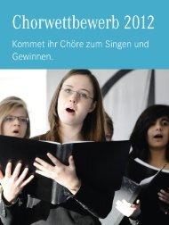 Chor Wettbewerb Flyer - Mercedes-Benz Niederlassung Rhein-Ruhr