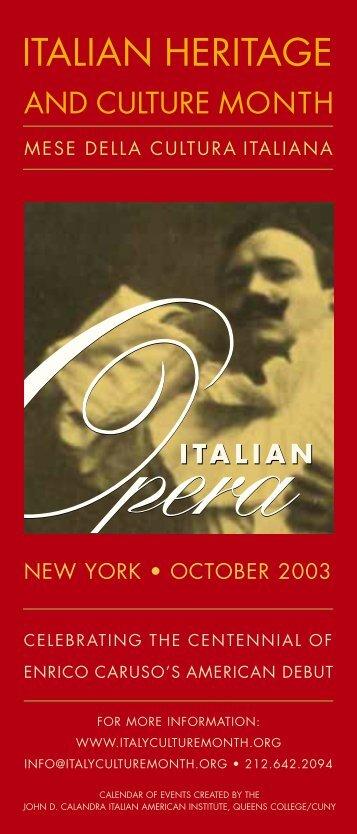 ITALIAN HERITAGE - Queens College - CUNY