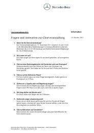 FAQ Chorwettbewer 16.11.2011 - Mercedes-Benz Niederlassung ...